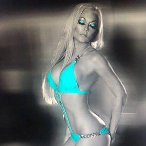 Sexy teal monokini